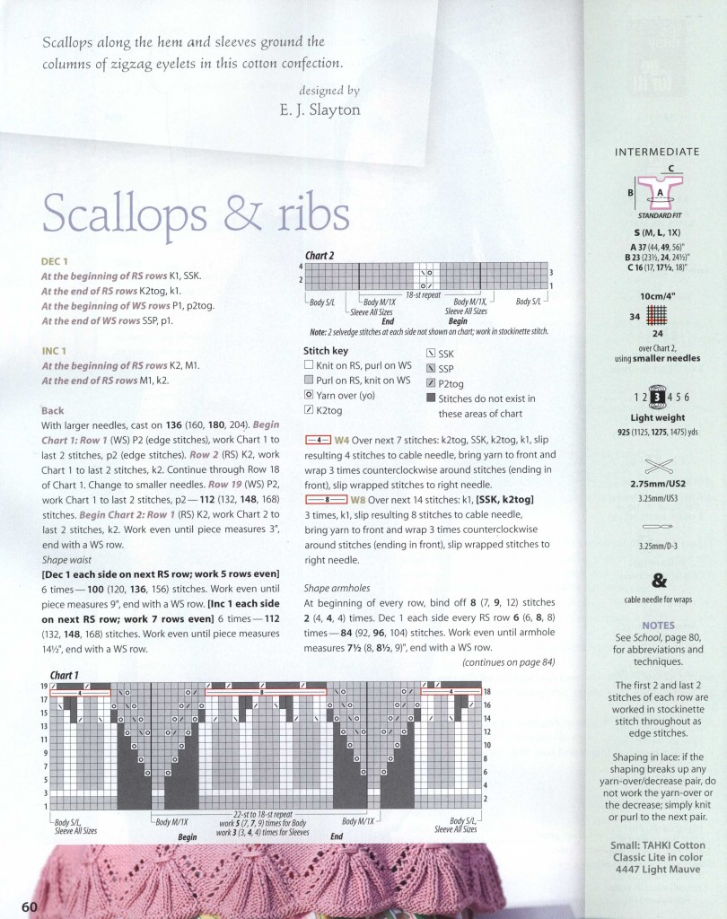 Scallops & Ribs Knitting Top 1