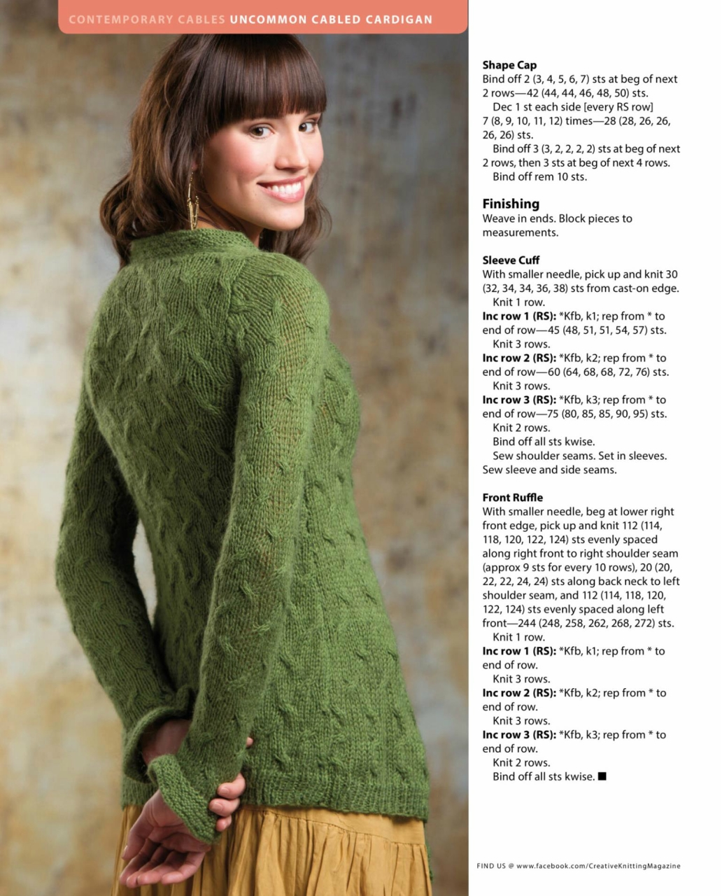 cable cardigan pattern 3 ~ Knitting Free