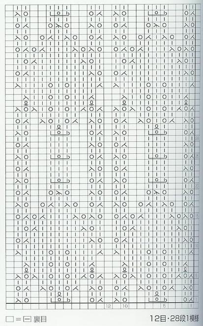 lace knitting stitches japanese chart 1