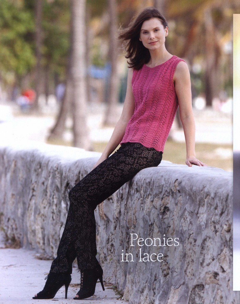 Lace Peonies Top ~ Knitting Free