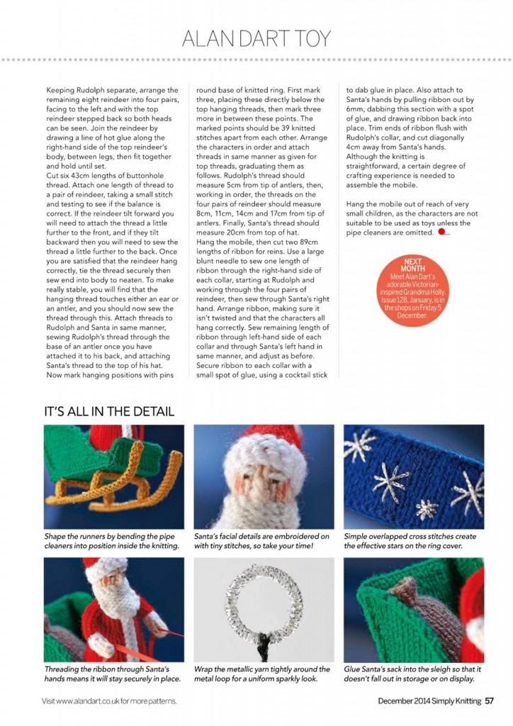 santa sleig knitting pattern 4