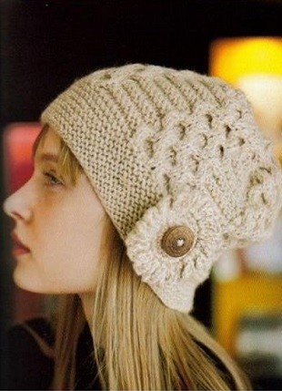 Honeycomb Knitted Hat Pattern
