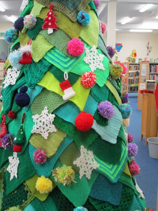 Knit and Crochet Life Size Christmas Tree 2