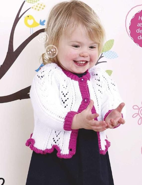Lacy Baby Girl S Knitted Cardigan Pattern Knitting Free
