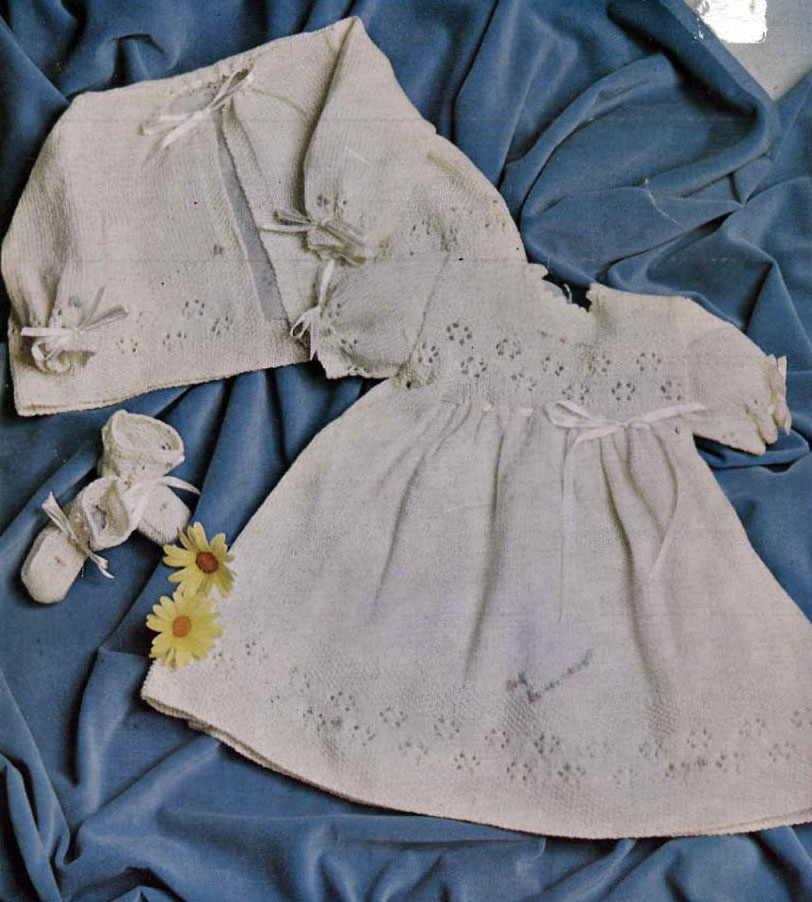 baby-dress-matinee-jacket-and-booties-knit