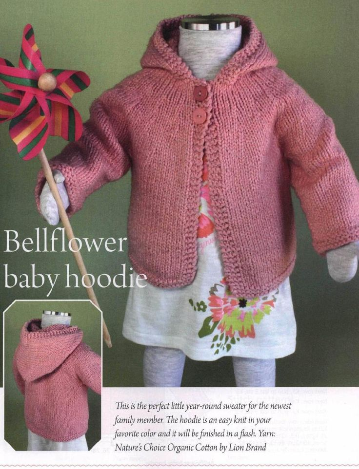 Baby And Toddle Hoodie Knitting Pattern Knitting Free
