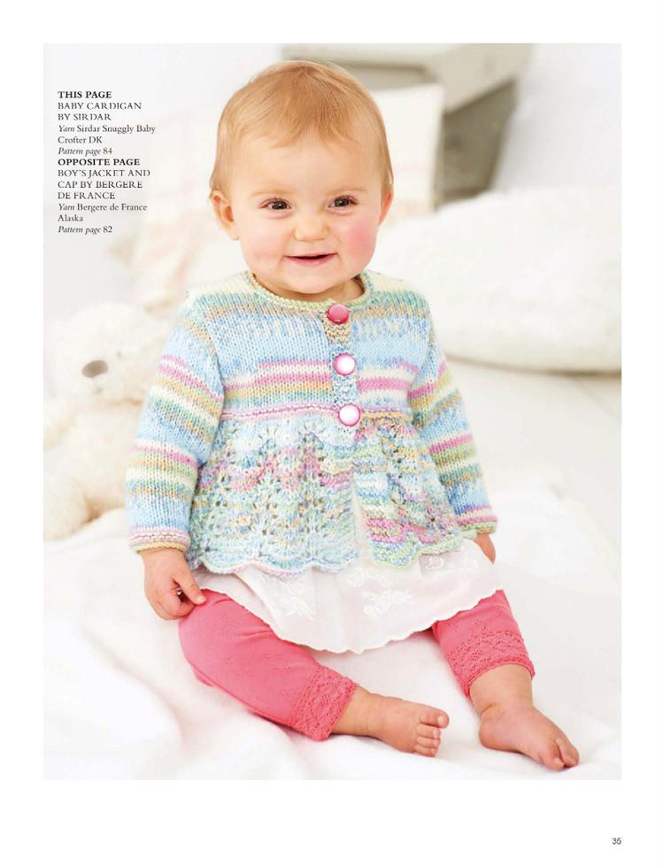 lace baby cardigan knitting pattern