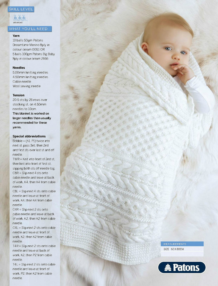 Free Vintage Knitting Patterns For Baby Blankets : Baby Blankets Archives ~ Knitting Free