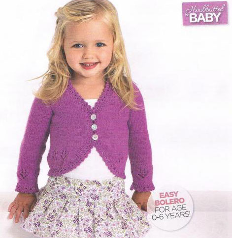 Free Knitting Pattern For Girls Bolero : Baby Cardigans Archives ~ Knitting Free