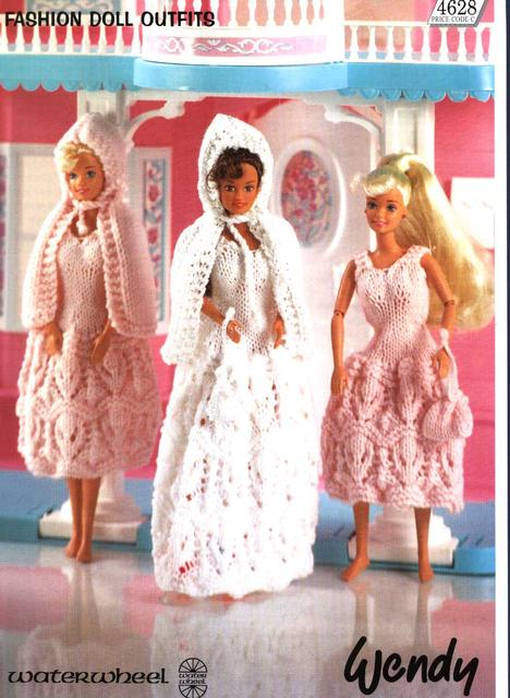 Wendy Or Barbie Knitted Outfits Patterns Knitting Free