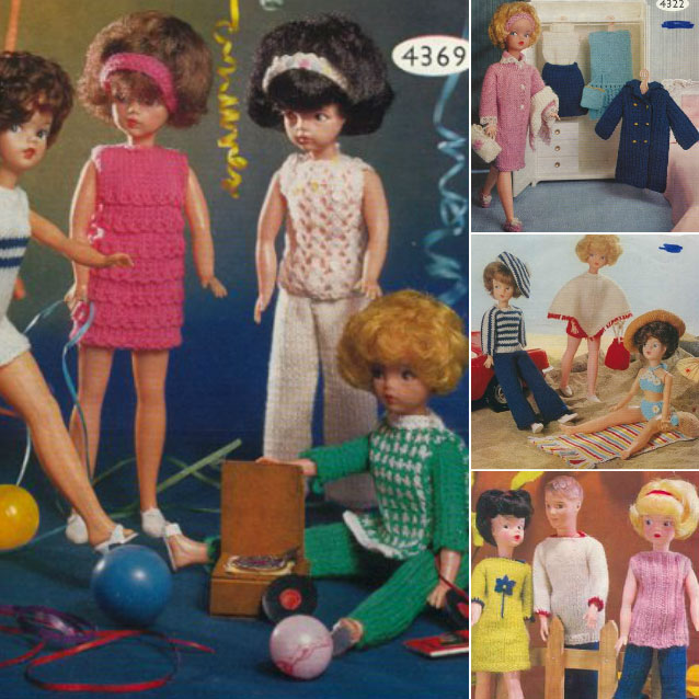vintage12 inch doll patterns knitting