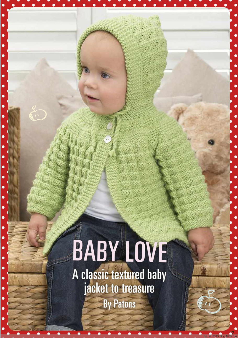 Classic Textured Baby Cardigan Pattern ~ Knitting Free