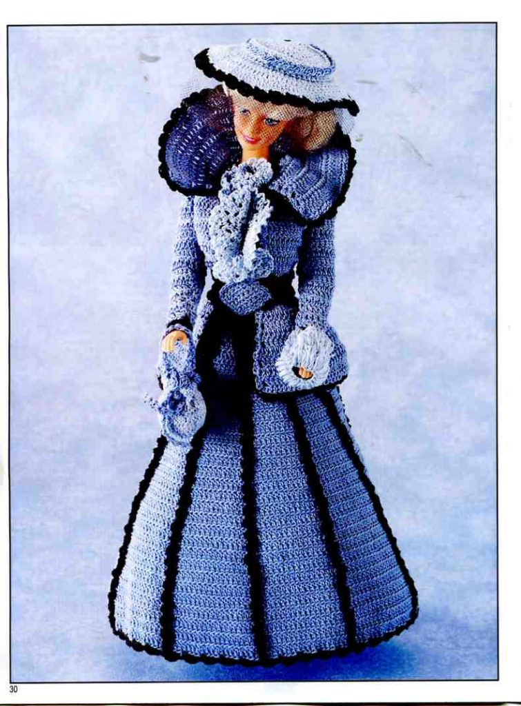 Barbie Crochet Victorian Costume Knitting Free