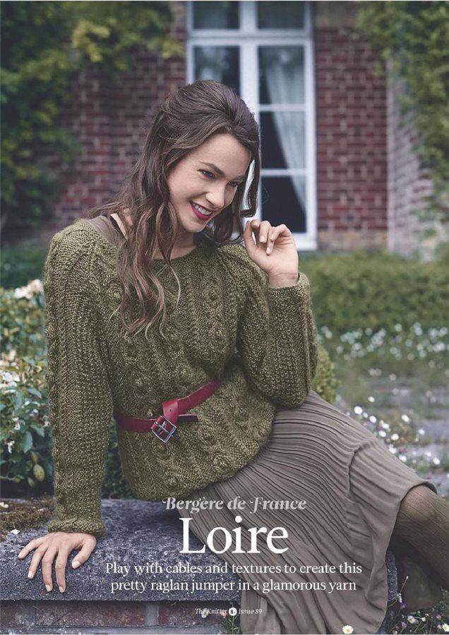 Cabled Ladies Sweater Knitting Pattern