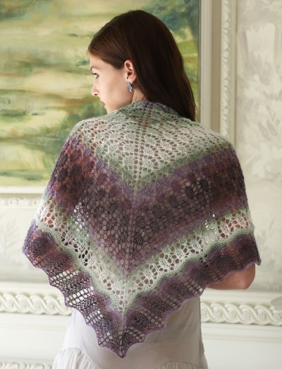 Patons Pretty Triangle Shawl Free Knitting Pattern 1 Knitting Free