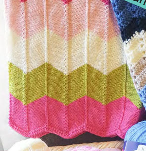 Lace and Chevron Baby Blanket Patterns ~ Knitting Free