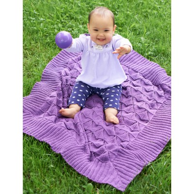 Lace And Chevron Baby Blanket Patterns Knitting Free