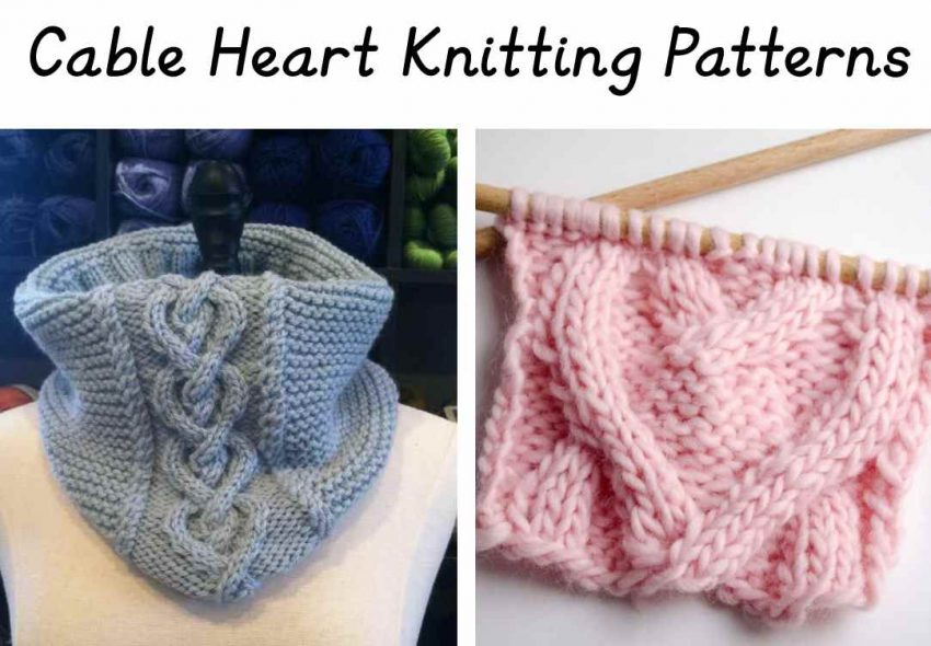 Cable Heart knitting patterns
