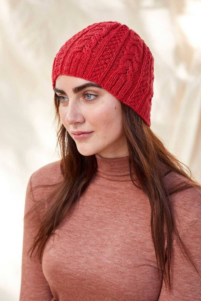 free hat knitting pattern cable beanie