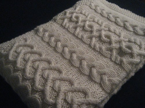 heart cable knitting pattern blanket